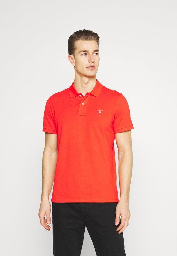 GANT THE ORIGINAL RUGGER - Koszulka polo - lava red/czerwony Odzież Męska VOXA