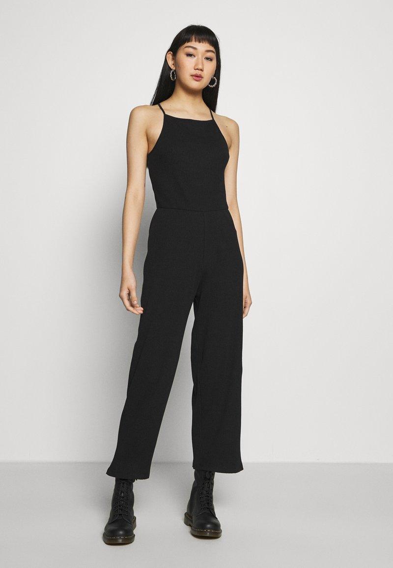 Even&Odd - BASIC - Jumpsuit - Overal - black