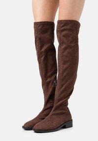 RAID Wide Fit - WIDE FIT TAMARA - Høye støvler - brown - 0