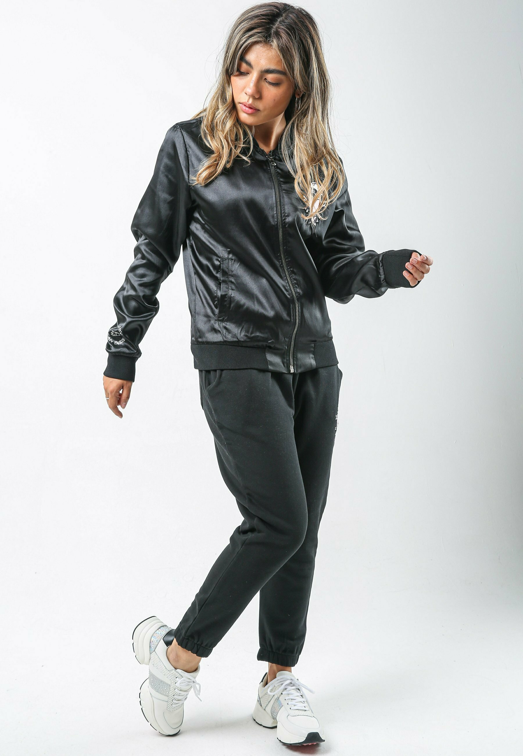 Mujer SKULL-PINK CROPPED JOGGER - Pantalones deportivos