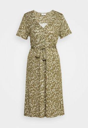 Korte jurk - burnt olive mix