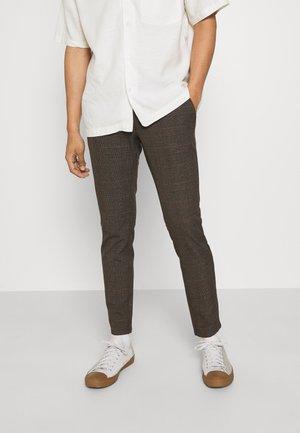 ONSMARK CHECK TAPERED - Chino kalhoty - slate black