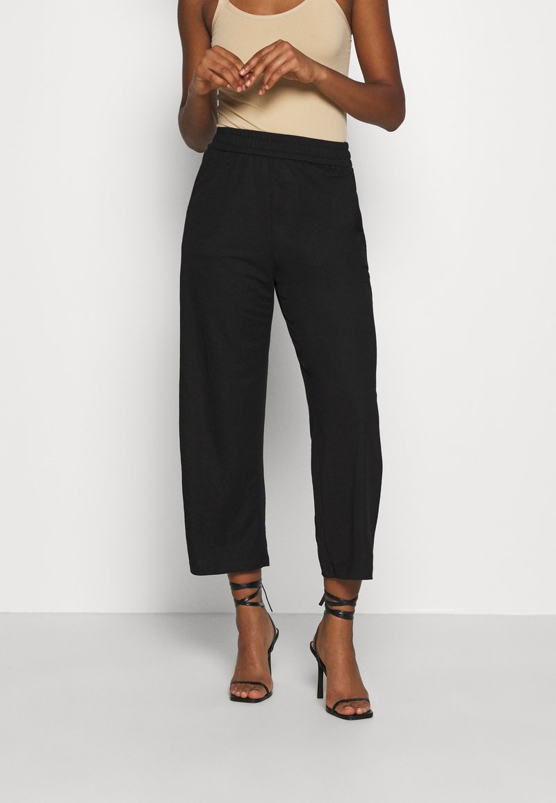 ONLY - ONLNAIRI CECILY WIDE PANT - Broek - black