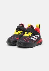 adidas Performance - FORTARUN SUPERHERO UNISEX - Chaussures de running neutres - core black/footwear white/vivid red - 1