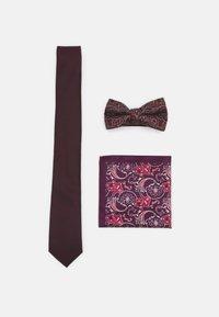Burton Menswear London - SET - Tie - burgundy - 0