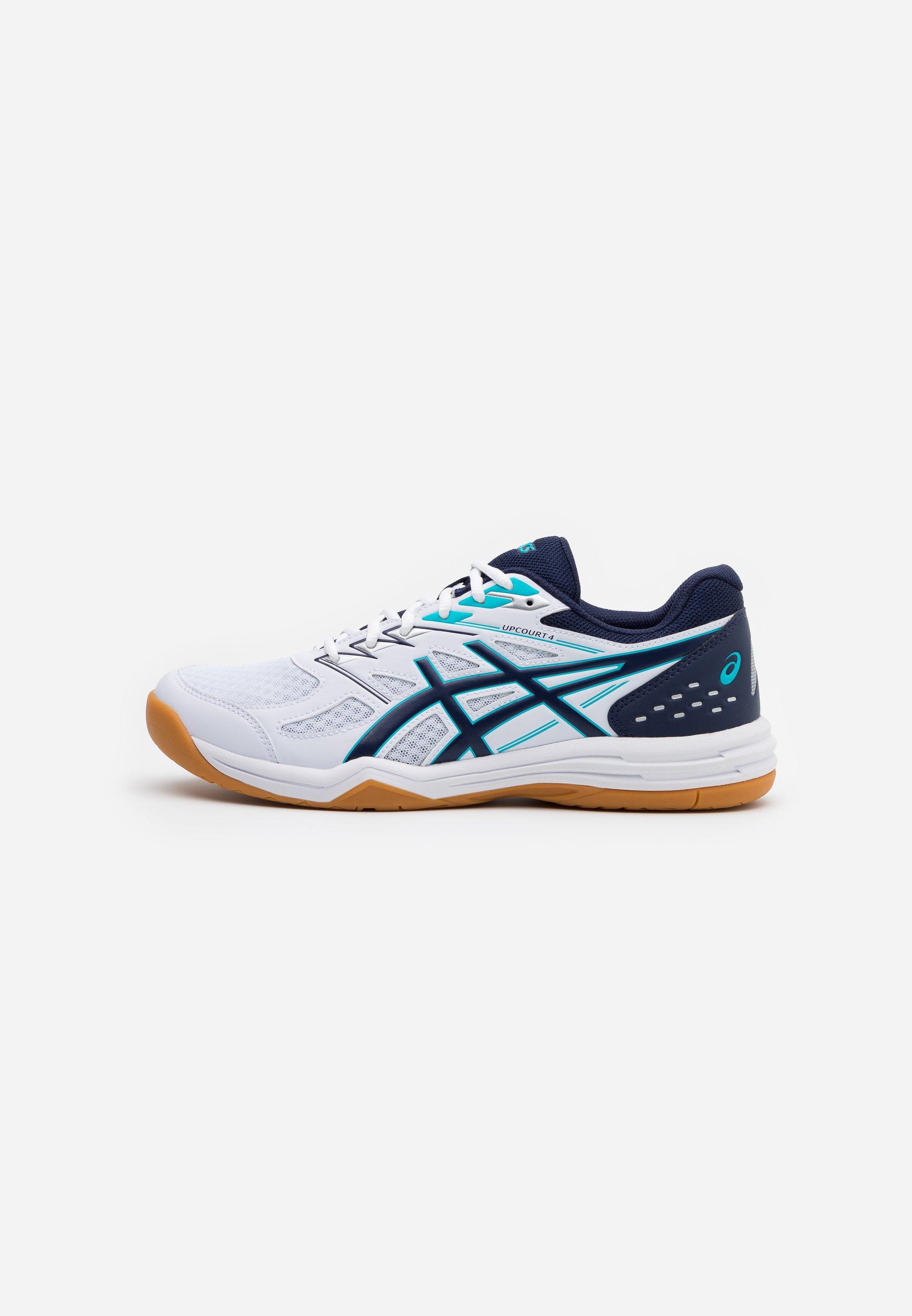 paz evitar sistema  ASICS UPCOURT 4 - Handball shoes - white/peacoat/white - Zalando.de