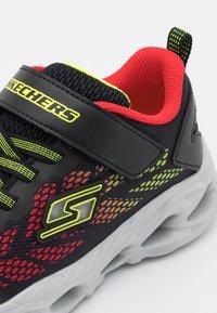 Skechers - VORTEX FLASH - Trainers - black/red/lime - 5