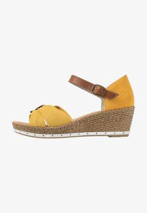 Platform sandals - yellow/amaretto/gelb