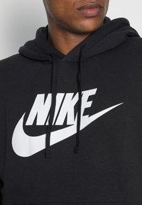Nike Sportswear - CLUB HOODIE - Huppari - black/white - 4