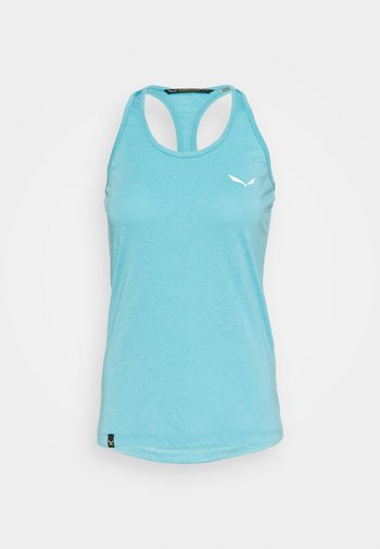 AGNER HYBRID DRI TANK - T-shirt sportiva - maui blue melange