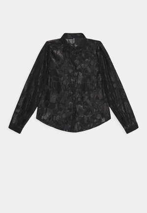PCDANA GLITTER - Button-down blouse - black