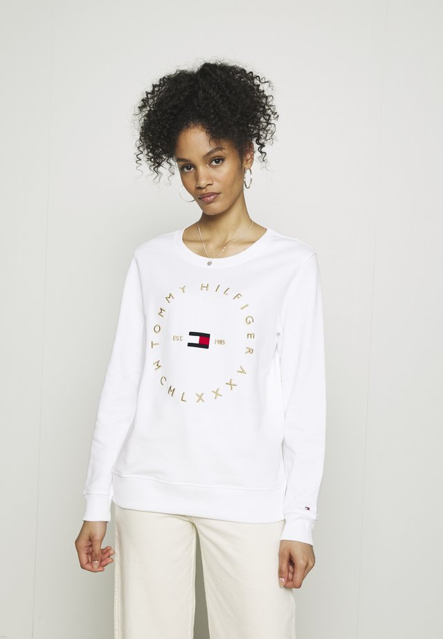 REGULAR CIRCLE  - Sweatshirt - white
