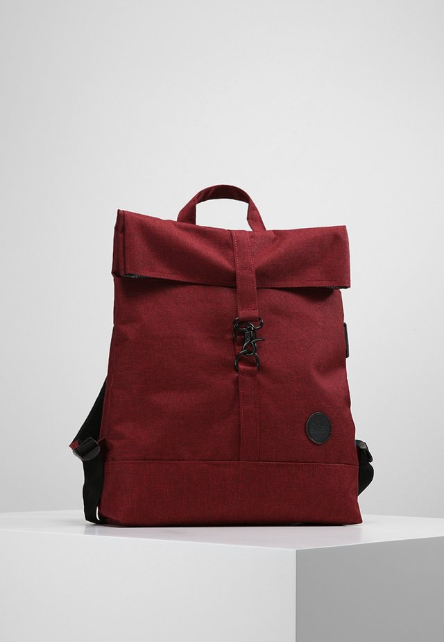 CITY FOLD TOP - Batoh - melange wine red