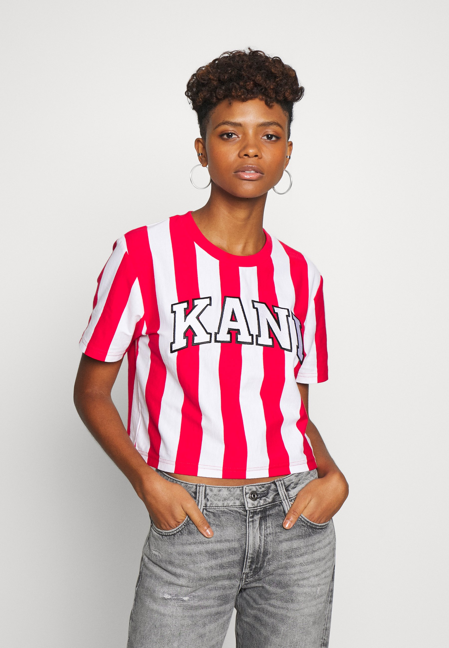 Damen COLLEGE STRIPE TEE - T-Shirt print