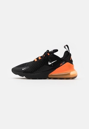 AIR MAX 270 HU UNISEX - Sneakersy niskie - black/metallic silver/laser orange
