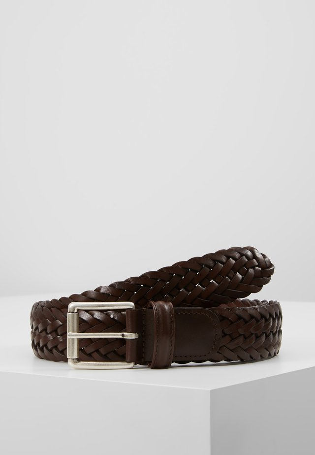 WOVEN BELT - Flechtgürtel - dark brown