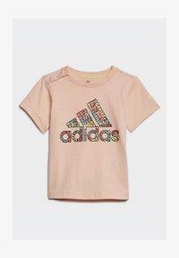adidas Performance - LOGO T-SHIRT - T-shirt print - pink - 1