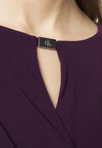 Lauren Ralph Lauren - MID WEIGHT DRESS TRIM - Shift dress - raisin - 5
