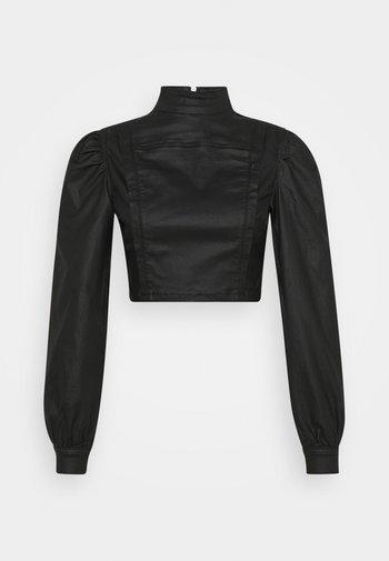 HIGH NECK PUFF SLEEVE - Långärmad tröja - black