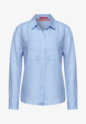 Button-down blouse - blau