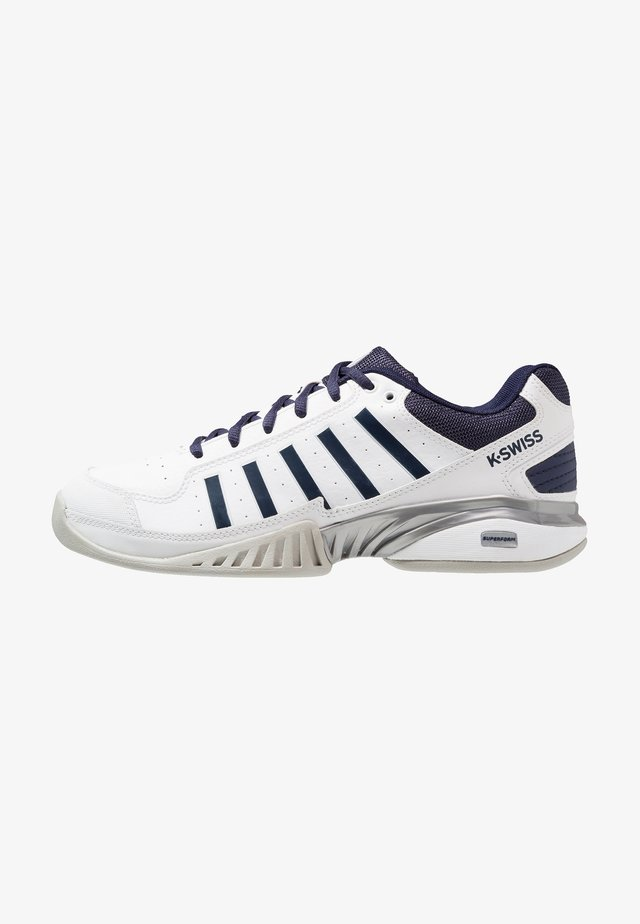 RECEIVER IV CARPET - Carpet court tennis shoes - white/navy