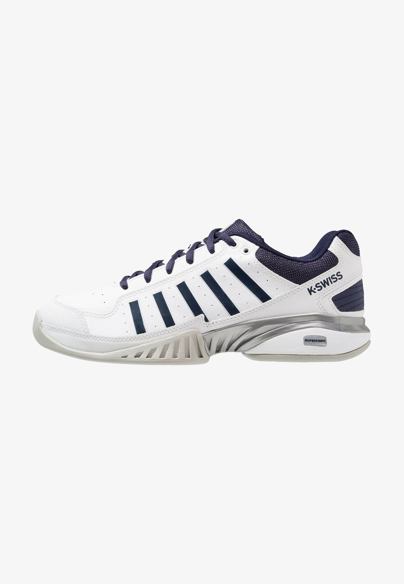 K-SWISS - RECEIVER IV CARPET - Carpet court tennis shoes - white/navy