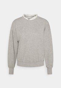 light grey melange/white