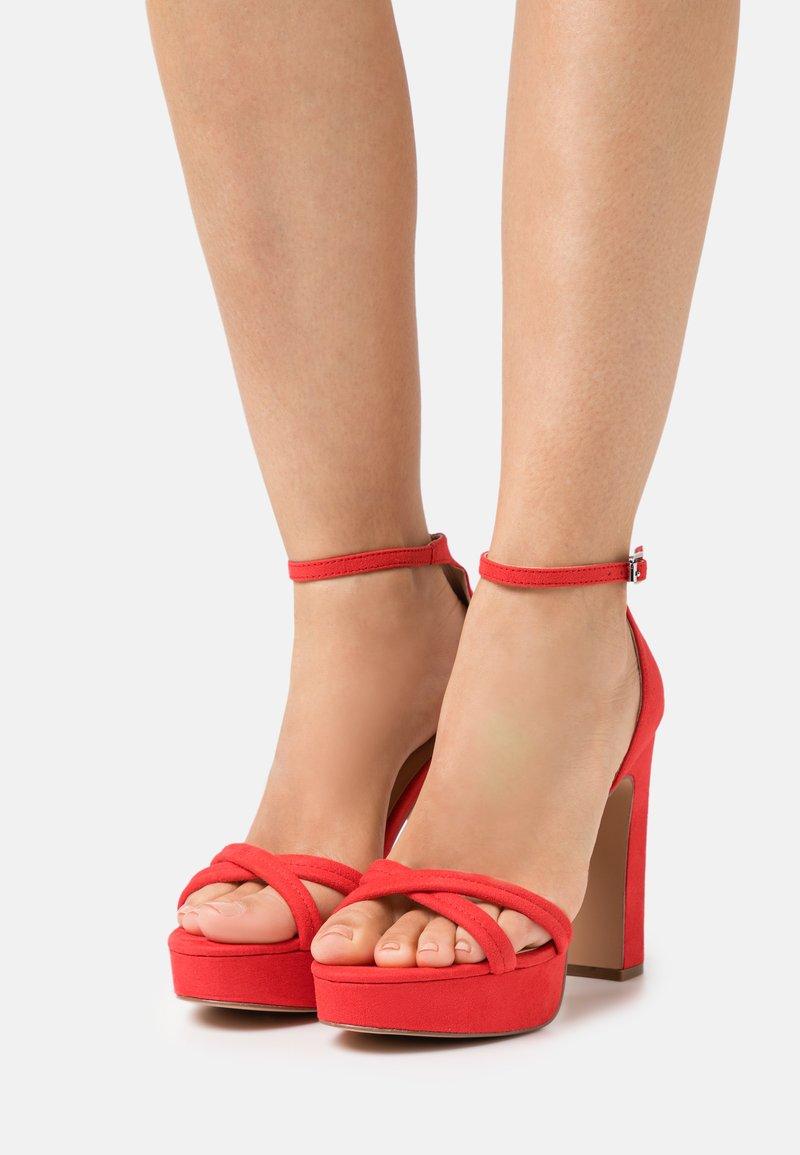 Even&Odd - Sandales à plateforme - red