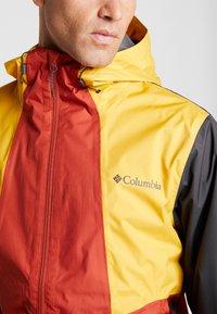 Columbia - INNER LIMITS™ JACKET - Hardshellová bunda - carnelian red/bright gold/shark - 5