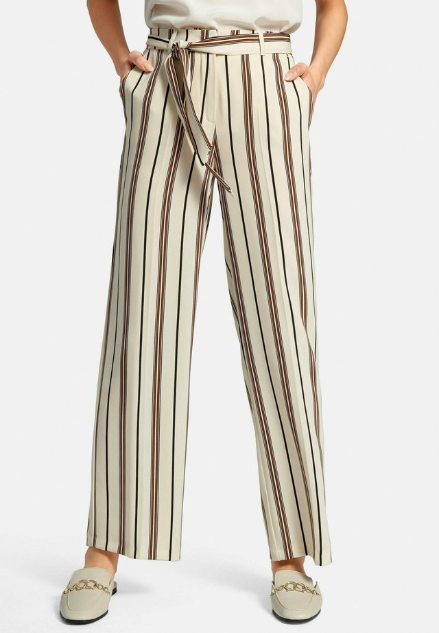 HOSE WIDE-LEG - Trousers - hellbeige/multicolor