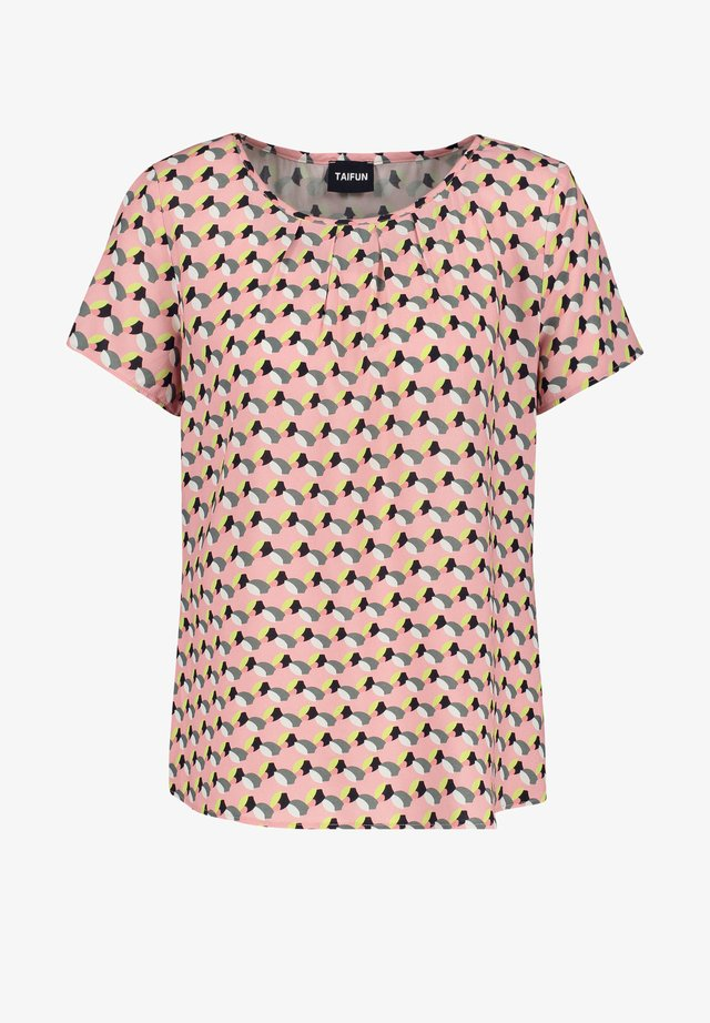 MIT ALLOVER-PRINT - Blouse - candy rose gemustert