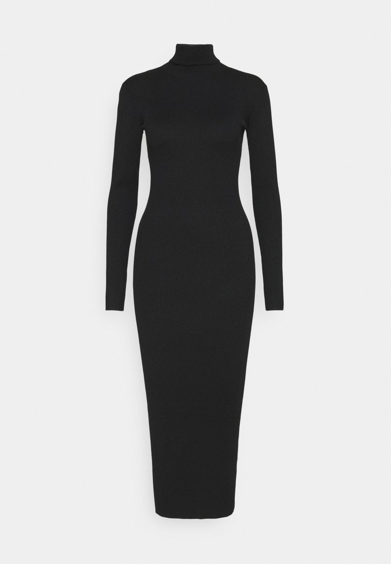 Missguided Tall - ROLL NECK DRESS - Strikket kjole - black