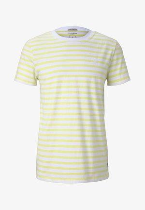 Print T-shirt - canary light yarn dye stripe
