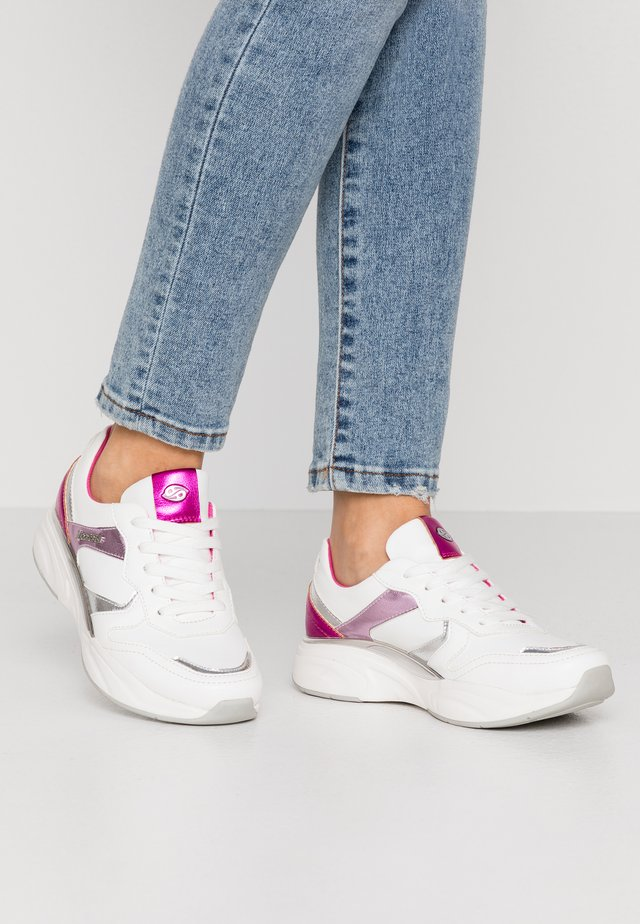 Sneakers basse - weiß/rot