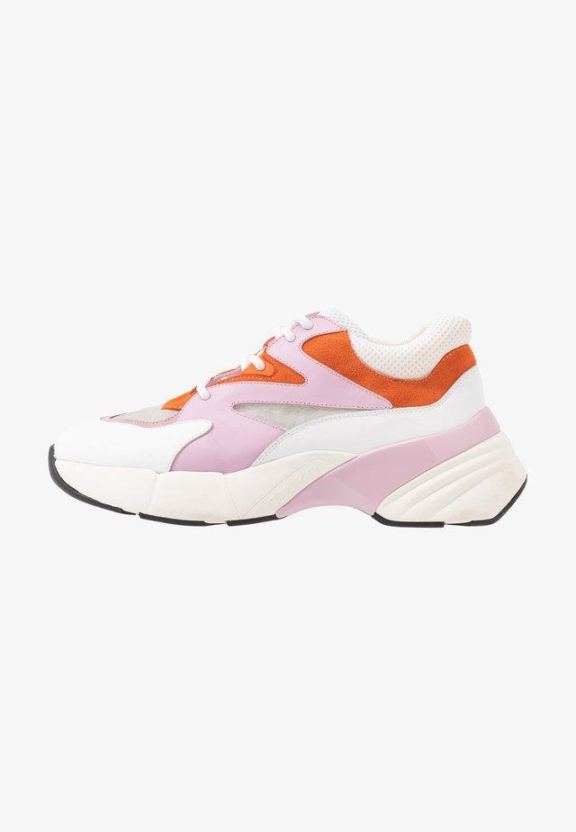 MAGGIORANA - Sneakers basse - bianco/rosa/arancio