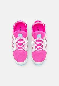 adidas Performance - TERREX HYDROTERRA UNISEC - Trekingové boty - screaming pink/hazy sky/footwear white - 3