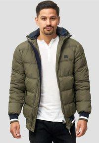 INDICODE JEANS - REGULAR  FIT - Winter jacket - dark green - 0