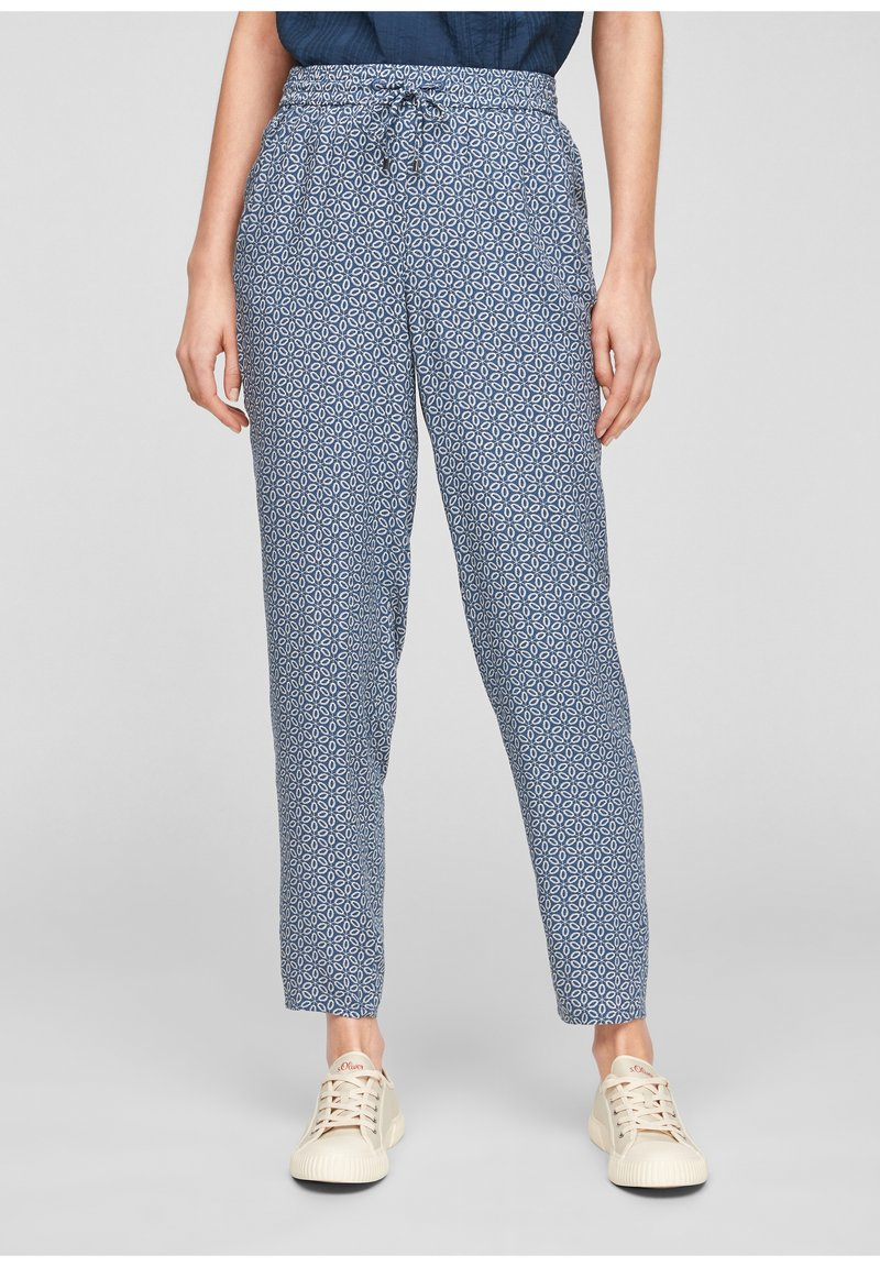 s.Oliver - BROEKEN - Trousers - blue embroidery