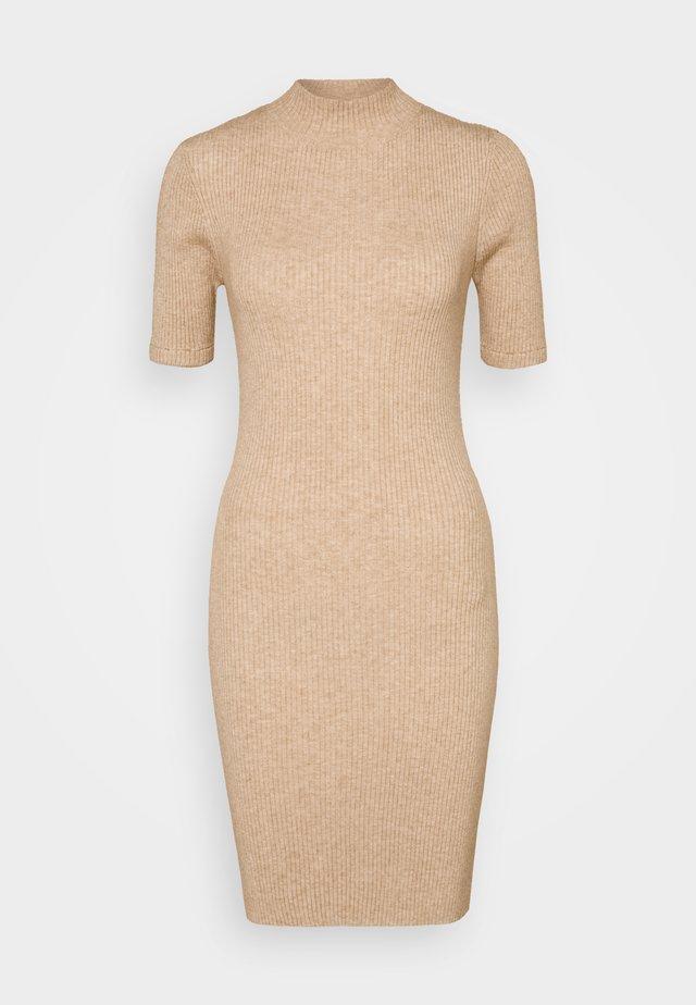 TAHLIA TRUE MINI DRESS - Strickkleid - natural marle
