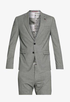 FLEX MINI CHECK SLIM FIT SUIT - Suit - grey