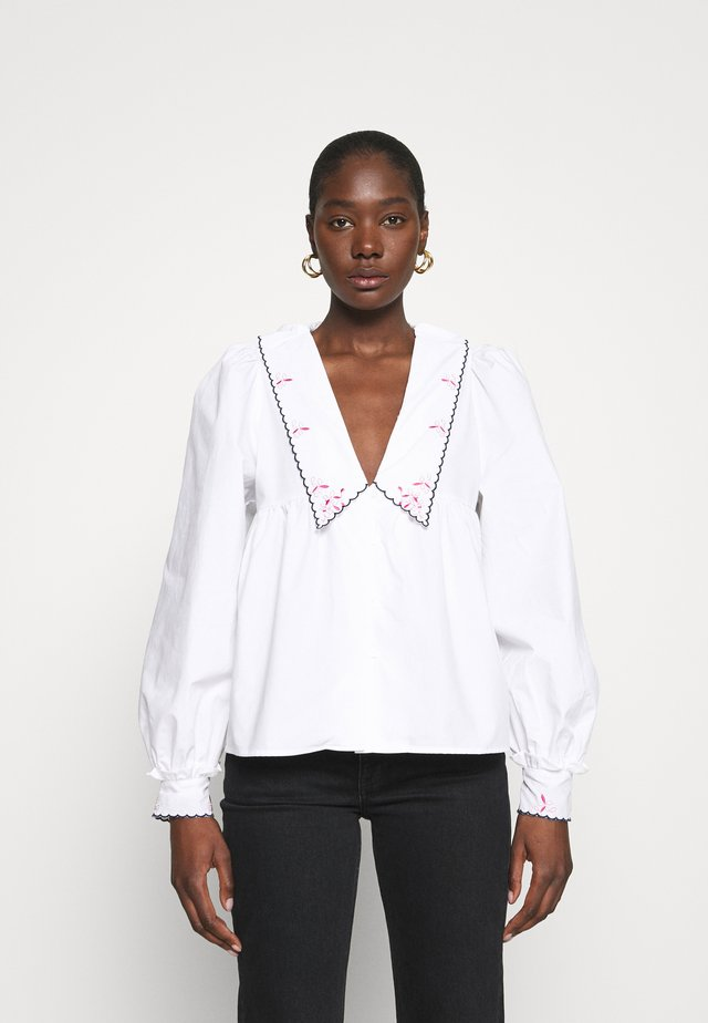 NAYACRAS BLOUSE - Button-down blouse - white