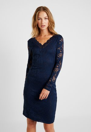 VISTASIA V NECK DRESS - Cocktailkleid/festliches Kleid - navy blazer