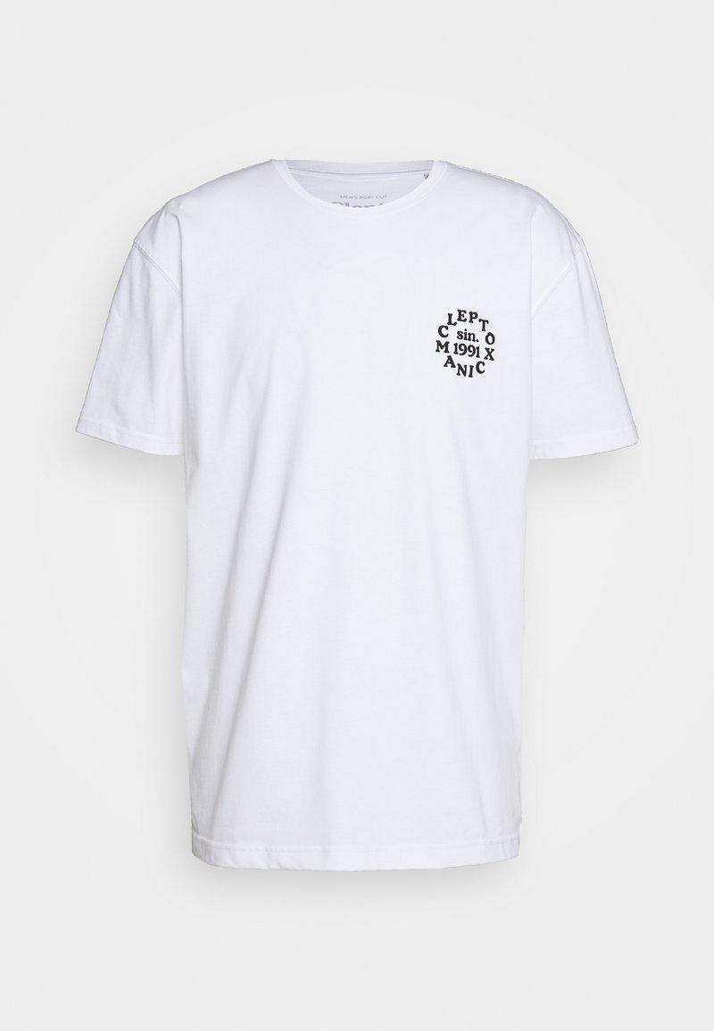 Cleptomanicx - CLUB - T-shirt z nadrukiem - white