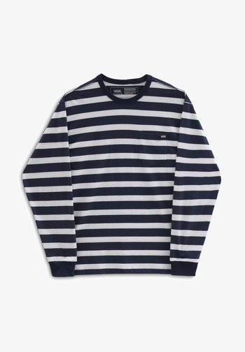 MN OFF THE WALL CLASSIC STRIPE POCKET LS - Långärmad tröja - dress blues/white