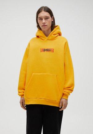 Felpa con cappuccio - yellow