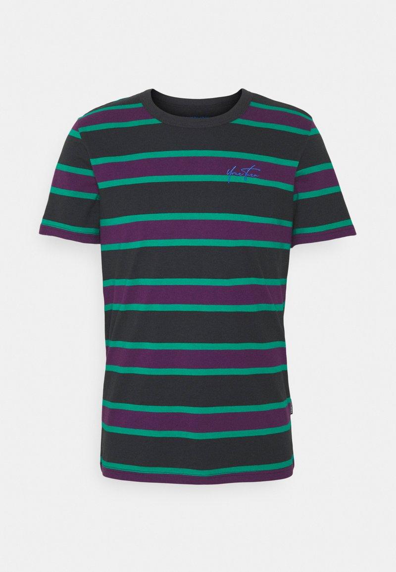 YOURTURN - UNISEX - Print T-shirt - green/purple