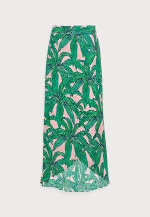 CORA SKIRT - Maxi sukně - lovely pink/emerald