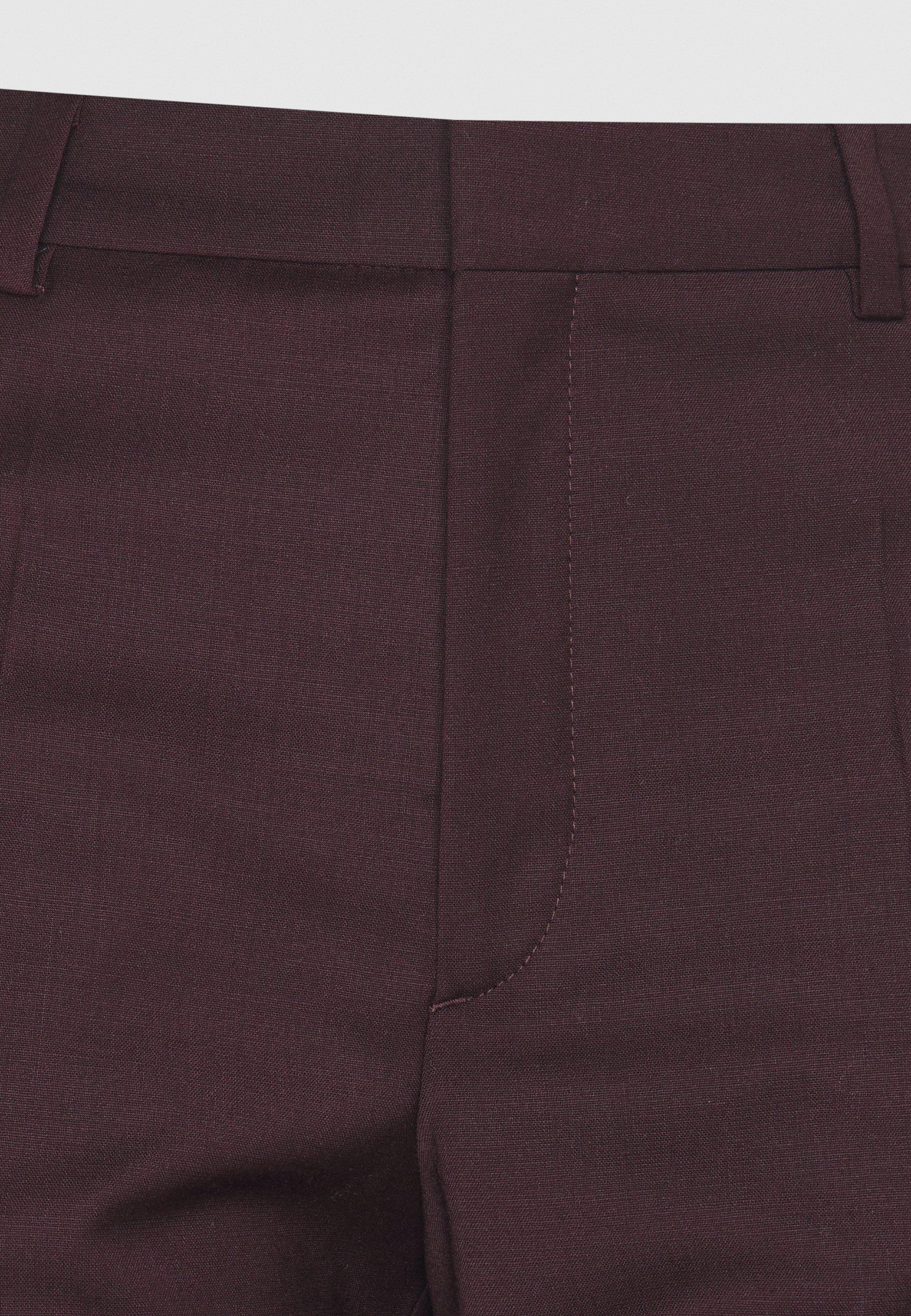 Filippa K EMMA CROPPED COOL TROUSER - Pantalon classique - maroon - Pantalons & Leggings Femme DJMs5