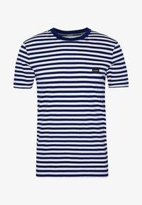 Calvin Klein - STRIPE CHEST LOGO  - Print T-shirt - blue - 3