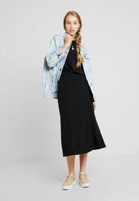 Monki - HALO SKIRT - A-line skirt - black dark - 1